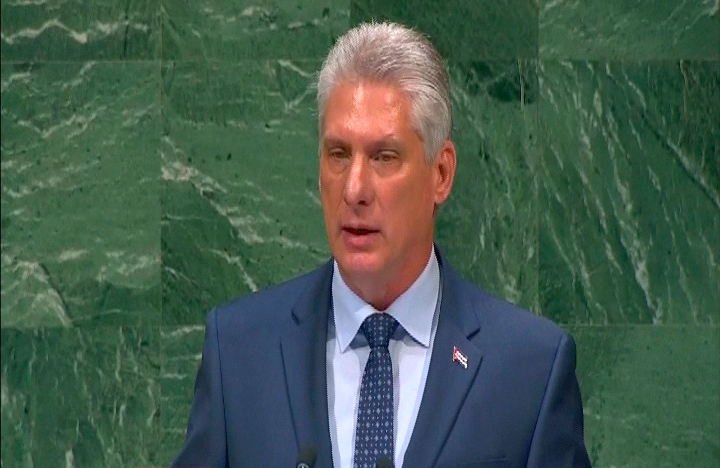 Cuba raises its voice for the just causes of the world, Díaz-Canel