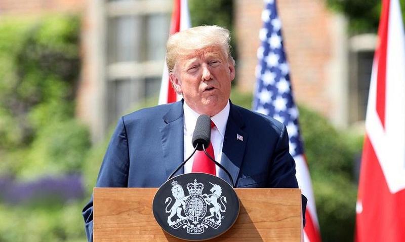 Persiguen a Trump las protestas contra su visita al Reino Unido