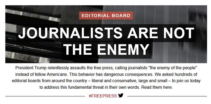 Periódicos estadounidenses publican editoriales contra Donald Trump