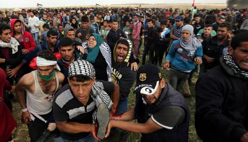 Reprime ejército israelí a palestinos en jornada sangrienta