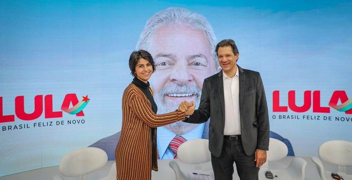 Fernando Haddad y Manuela D Avila