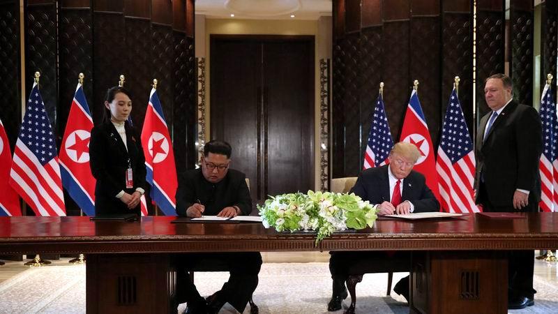 Kim Jong-un y Donald Trump sellan importante e integral documento
