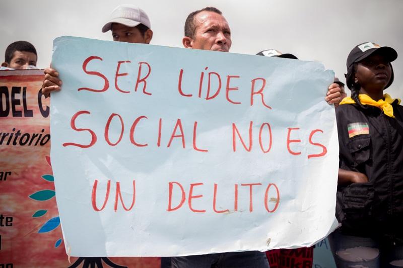 Amenazados de muerte líderes sociales y políticos en Colombia