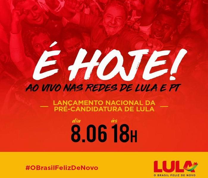 Ratifica Lula que será otra vez candidato a la presidencia de Brasil
