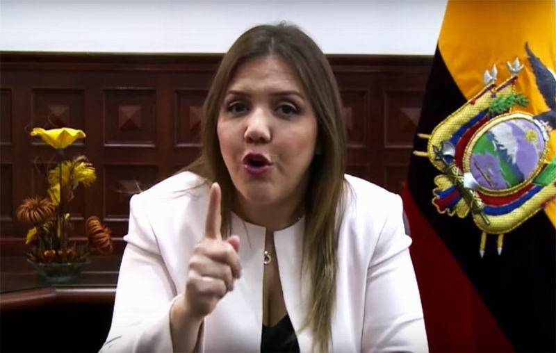 Fiscalía de Ecuador formulará cargos contra ex vicepresidenta Vicuña