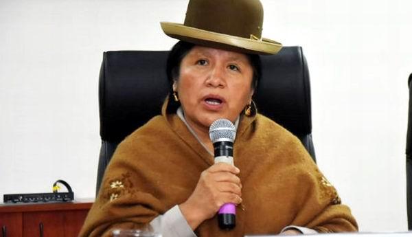 Presidenta del Tribunal Supremo Electoral (TSE) de Bolivia, María Eugenia Choque