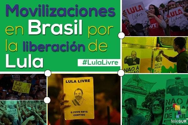 Brasileños se movilizan hoy en defensa de Lula