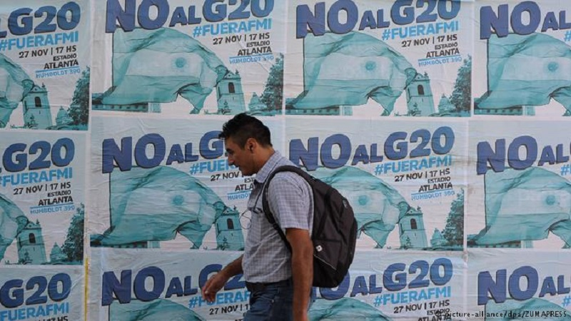 Protestas en Argentina contra Cumbre del G-20