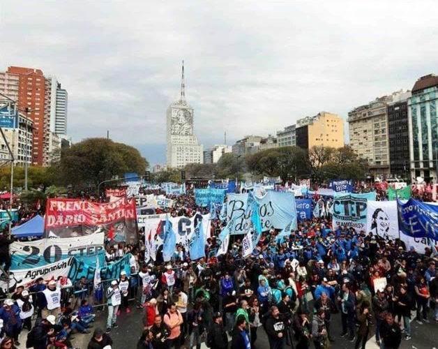 Manifestaciones en Argentina