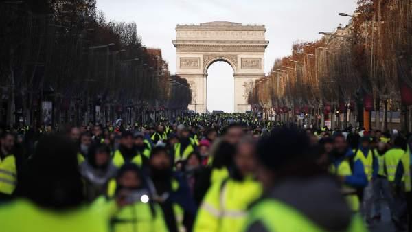 Transcurre cuarto sábado consecutivo de protestas en Francia