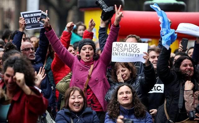 Protestan periodistas y trabajadores de la prensa en Argentina