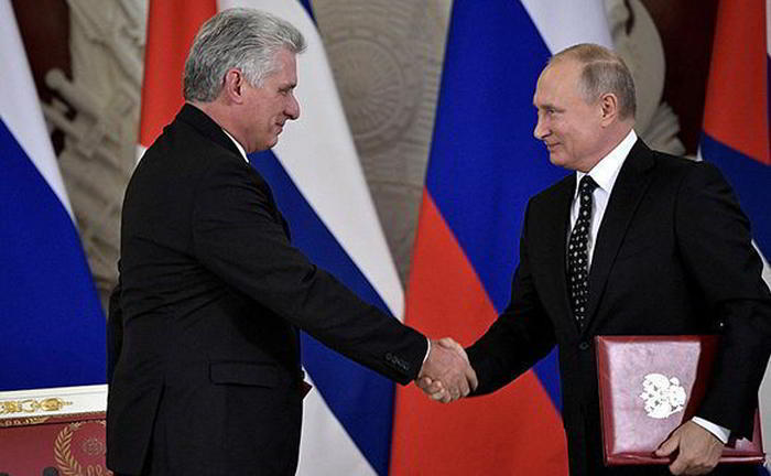 Putin congratulates Díaz-Canel on his election as the First Secretary of the Communist Party of Cuba