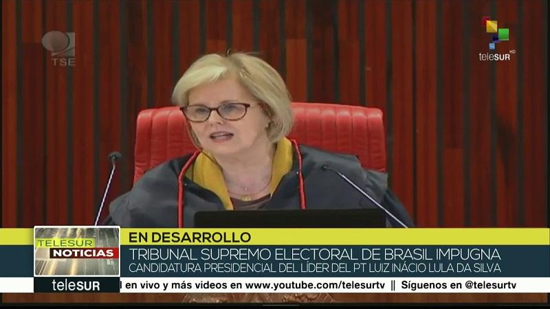 TSE niega candidatura de Lula a las presidenciales