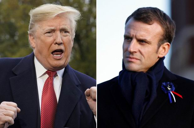 Ataca Trump propuesta de Macron de crear ejército para proteger Europa