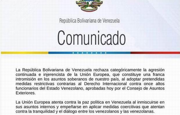 La Unión Europea impone nuevas sanciones a Venezuela