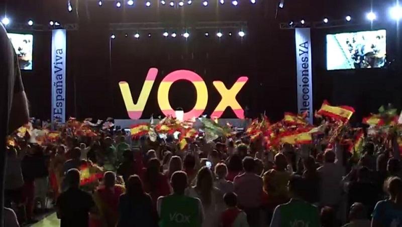 Vox, partido ultraderechista que llegó al parlamento andaluz