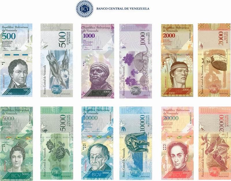 A partir del 15 de diciembre entrará en circulación la nueva denominación de 500 bolívares y que progresivamente se irán incorporando los billetes de 1.000, 2.000, 5.000, 10.000 y 20.000 bolívares
