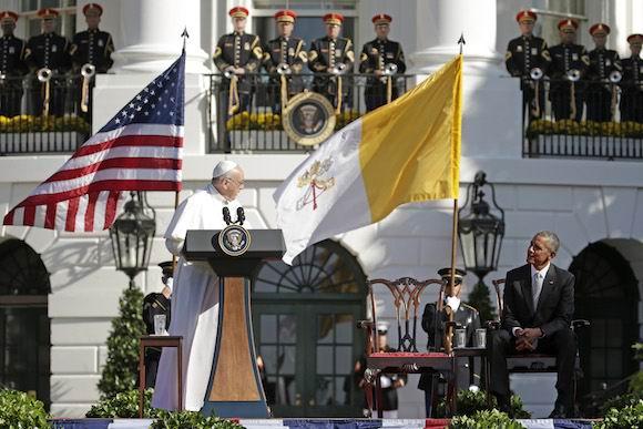 """El Papa destacó su historia """"como hijo de inmigrante"""" y exhortó a cambiar un """"sistema"""" que excluye a millones de personas. Foto: Pablo Martinez Monsivais/ AP"""