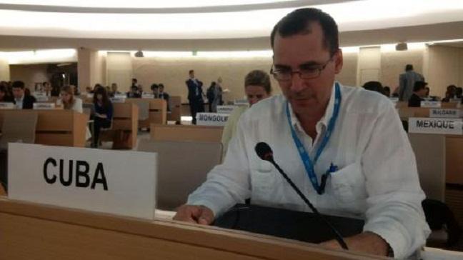 Denuncia Cuba en Ginebra violaciones de derechos humanos en Estados Unidos