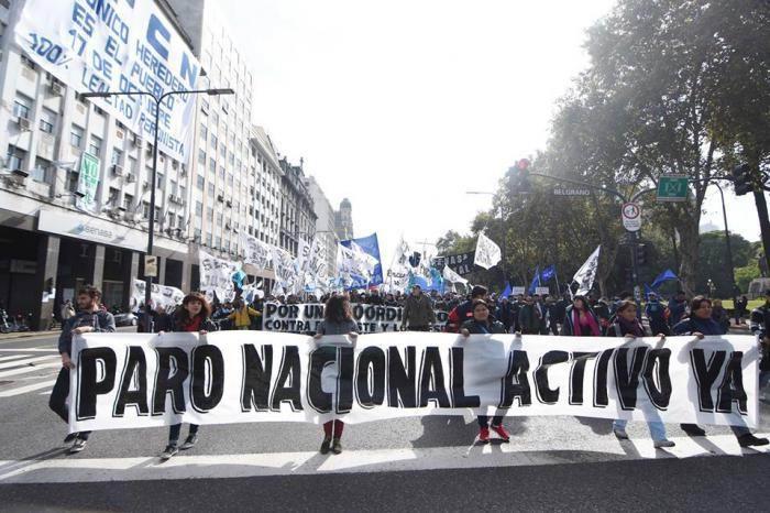 Se preparan sindicatos argentinos para protesta hist�rica contra Gobierno