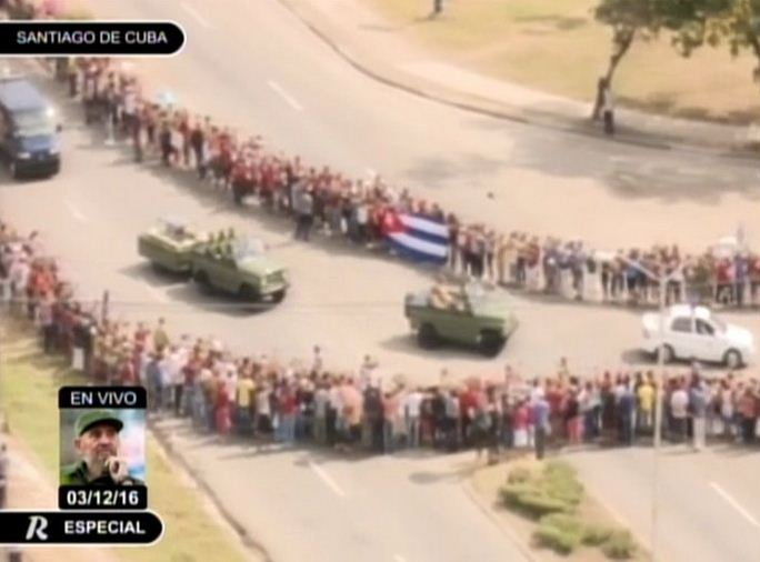 Fidel Castro funeral procession enters Santiago de Cuba