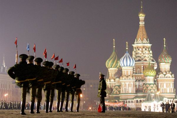 Marchar�n soldados chinos en la Plaza Roja de Mosc�
