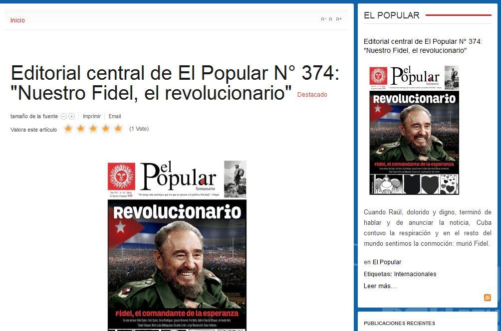 Continúan tributo a Fidel desde varias partes del mundo