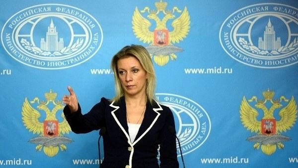 La portavoz del Ministerio de Exteriores ruso pregunta a Reuters si son periodistas. Foto: AFP