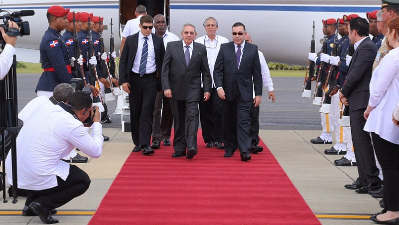 Raul Castro arrives in the DR for CELAC Summit