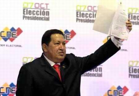 Proclamado Hugo Chávez Presidente de Venezuela