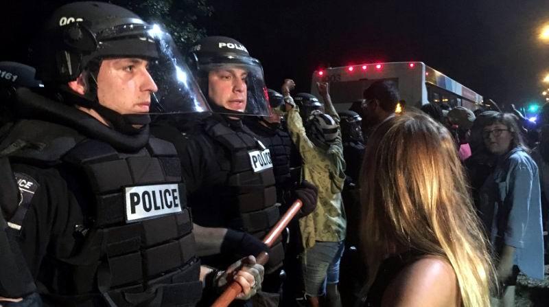 Protesta convocada por organizaciones de latinos y afrodescendientes