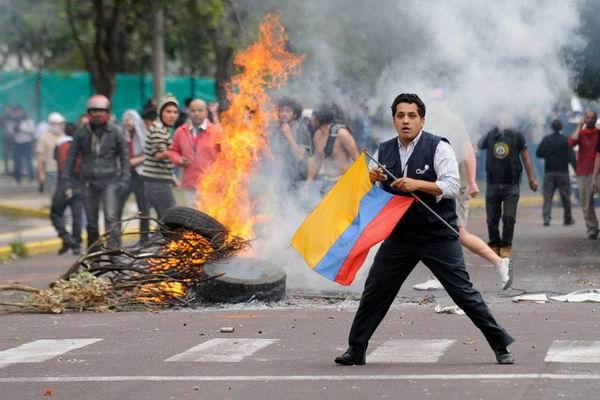 En Ecuador, siguen las protestas