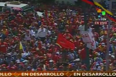 Miles de venezolanos se congregaron para acompa�ar al presidente Ch�vez. (Foto: teleSUR)
