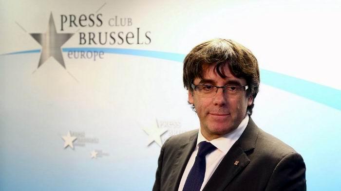 Puigdemont comparece en Bruselas