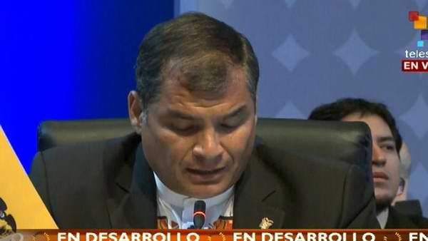 Rafael Correa en Cumbre de las Américas