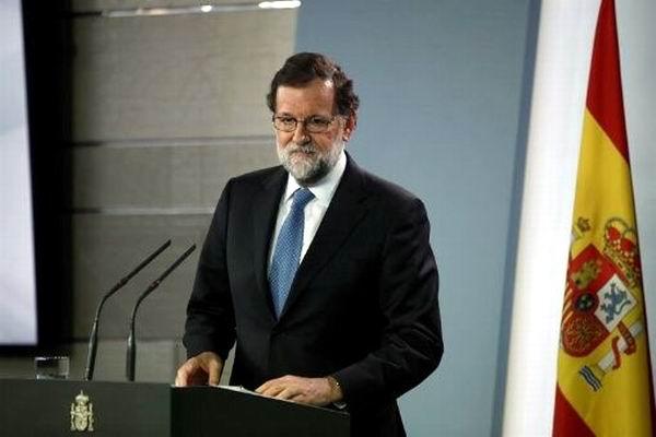 Mariano Rajoy, anunció la destitución de Carles Puigdemont como presidente de la Generalitat.  Foto: EFE