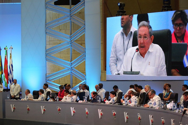 Cuban President Raul Castro during the Fifth Summit of the Community of Latin American and the Caribbean States (CELAC). Photo by Presidencia RD