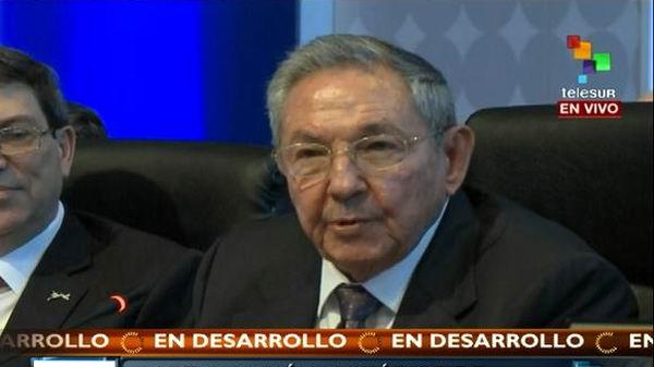 Presidente cubano Raúl Castro Ruz, en Cumbre de las Américas
