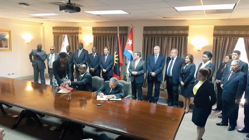 Rubrican Cuba y Antigua Declaración de Solidaridad y Cooperación