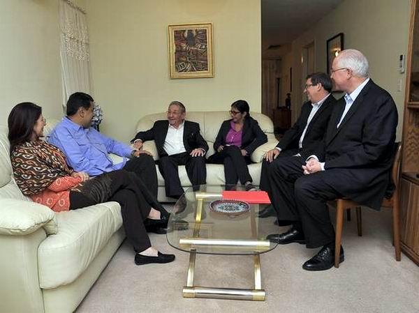 El encuentro con el Presidente de la República Bolivariana de Venezuela, Nicolás Maduro. Foto: Estudios Revolución.