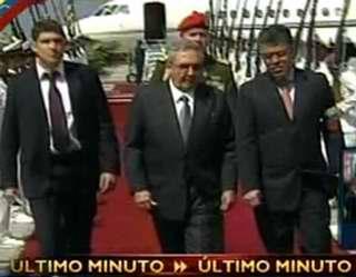 Llega Presidente de Cuba Raúl Castro a Venezuela