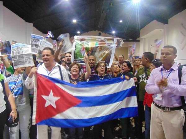 Delegación cubana se retira del foro de la sociedad civil. Foto Pensando Américas (Twitter)
