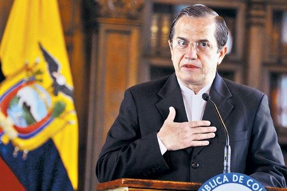 Canciller ecuatoriano, Ricardo Patiño
