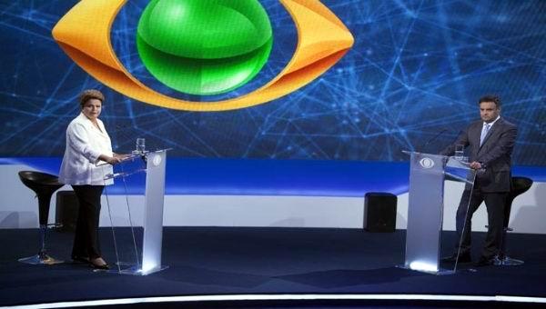 Debaten Rousseff y Neves diferencias econ�micas