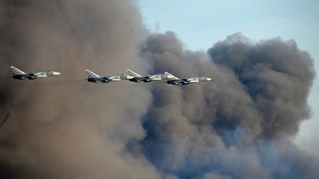 Lanza Rusia bombardeos a�reos en Siria contra el terrorista Estado Isl�mico
