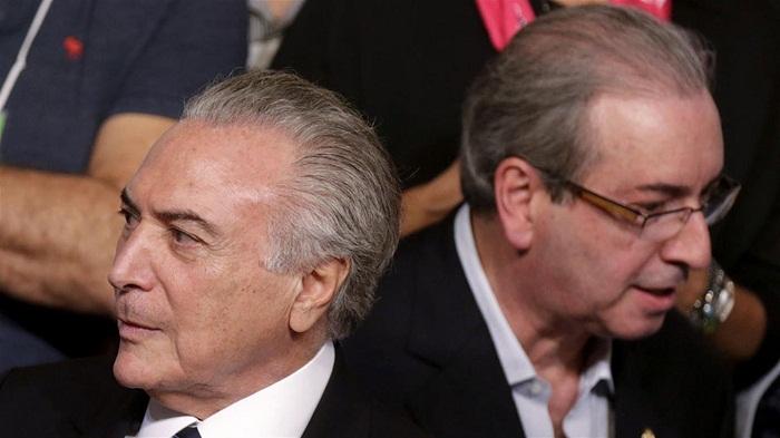 Michel Temer (I) y Eduardo Cunha (D). Foto de Archivo. Reuters