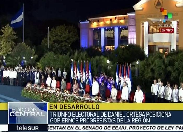 Daniel Ortega asume nuevo mandato como presidente de Nicaragua
