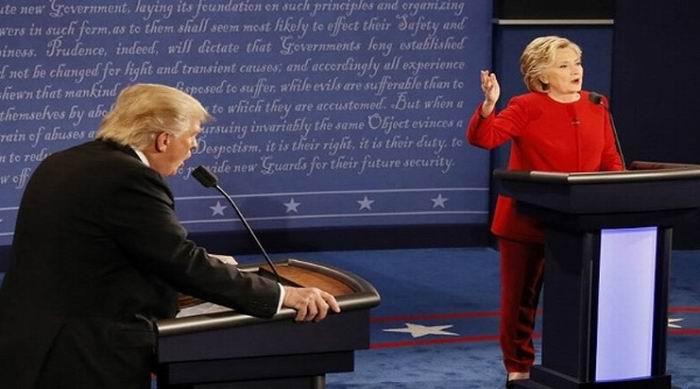 Se impone Hillary Clinton en el tercer debate presidencial en EE:UU