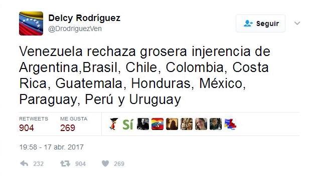 Rechaza canciller acciones de países que apadrinan intervencionismo en Venezuela