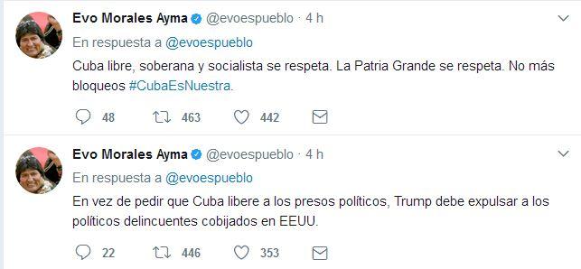 Twitter de Evo Morales
